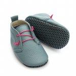 Pantofi cu talpa moale Liliputi cu crampoane antialunecare Urban Cloud L 14 cm