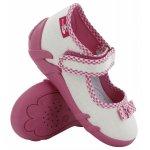 Pantofi fete cu aspect stralucitor cu fundita cu scai din material textil marime 22 (14 cm)