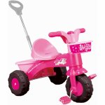 Prima mea tricicleta roz cu maner Unicorn