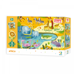 Puzzle Animale din Africa 18 piese