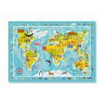 Puzzle Harta animalelor lumii 80 piese
