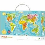 Puzzle Continentele lumii 100 piese