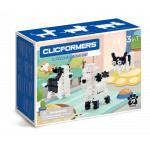 Set de construit Clicformers animale prietenoase 79 piese