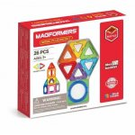 Set magnetic de construit Magformers Basic Plus 26 piese
