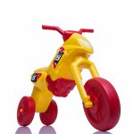 Tricicleta fara pedale Enduro Maxi galben-rosu