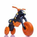 Tricicleta fara pedale Enduro Mini negru-portocaliu
