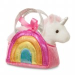 Unicorn in geanta curcubeu Fancy Pal 20 cm Aurora 61171