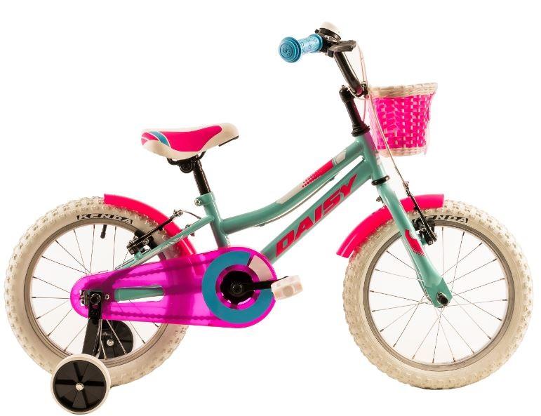Bicicleta copii Dhs 1604 verde roz 16 inch