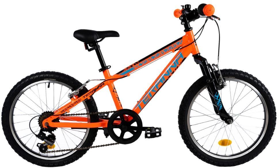 Bicicleta copii Dhs 2023 portocaliu negru 20 inch imagine
