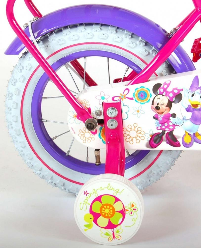Bicicleta EL Minnie Mouse 12 cu portbagaj