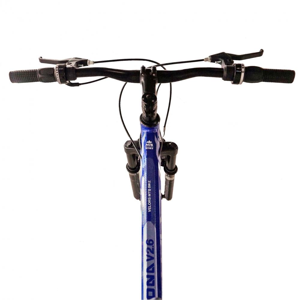 Bicicleta Mtb-Ht 26 Velors Double V2671A cadru aluminiu albastrugri imagine