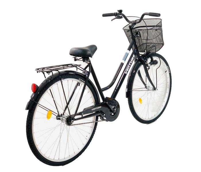 Bicicleta oras Venture 2818 L negru 28 inch
