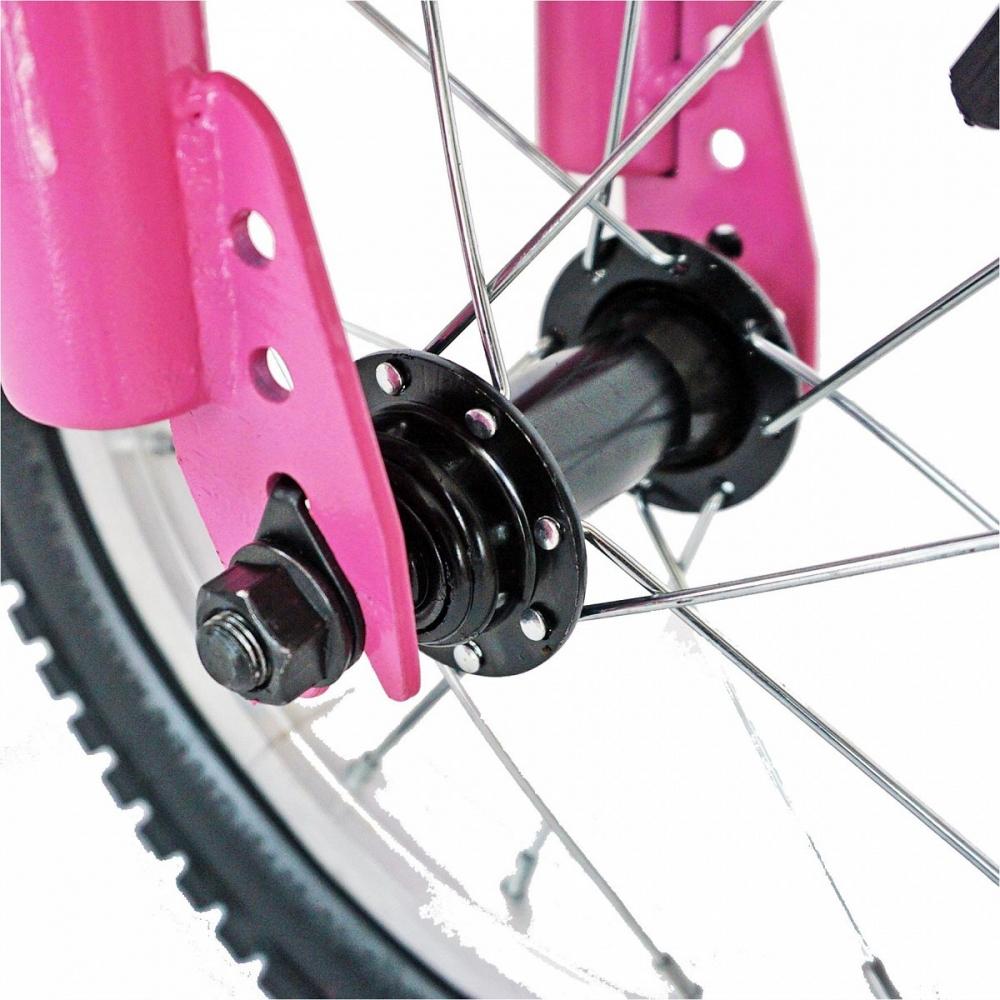 Bicicleta copii 14 Velors V1402A cadru otel rozalb si roti ajutatoare