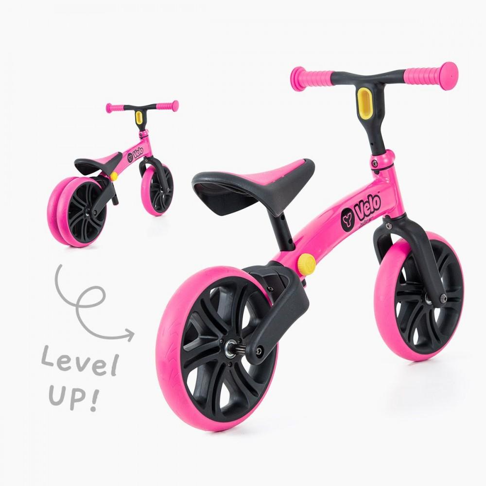Bicicleta fara pedale Y Volution Y Velo Junior pink