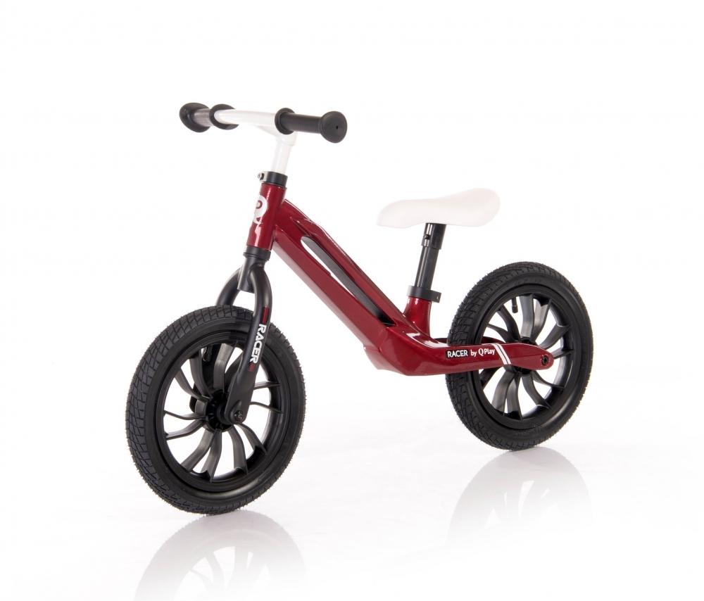 Bicicleta fara pedale cu cadru din magneziu Racer Red White
