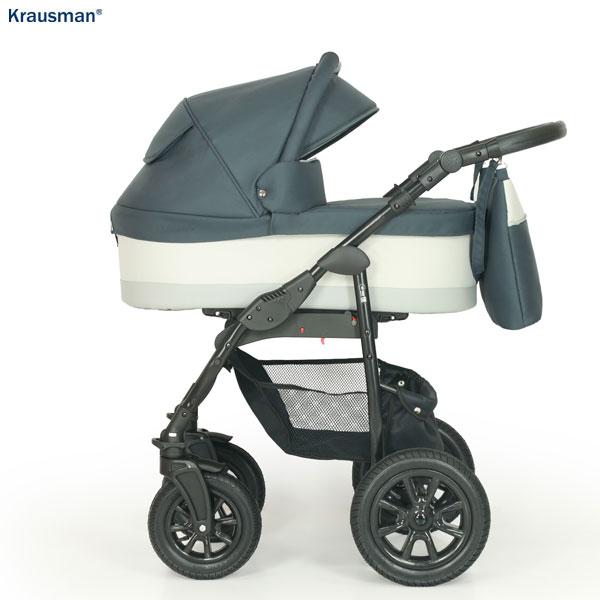 KRAUSMAN Carucior 3 in 1 Jet Dark Grey