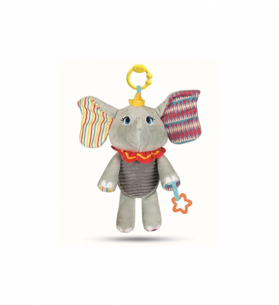 CLEMENTONI Jucarie de plus elefantul Dumbo cu activitati