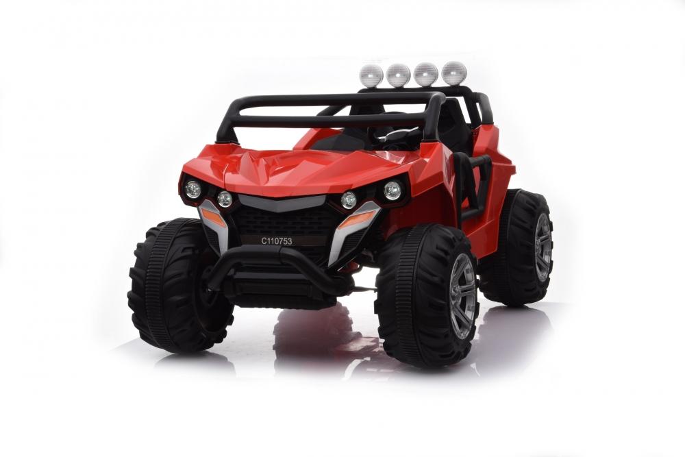 Masinuta electrica cu 2 locuri si roti din cauciuc Jeep 4x4 Red