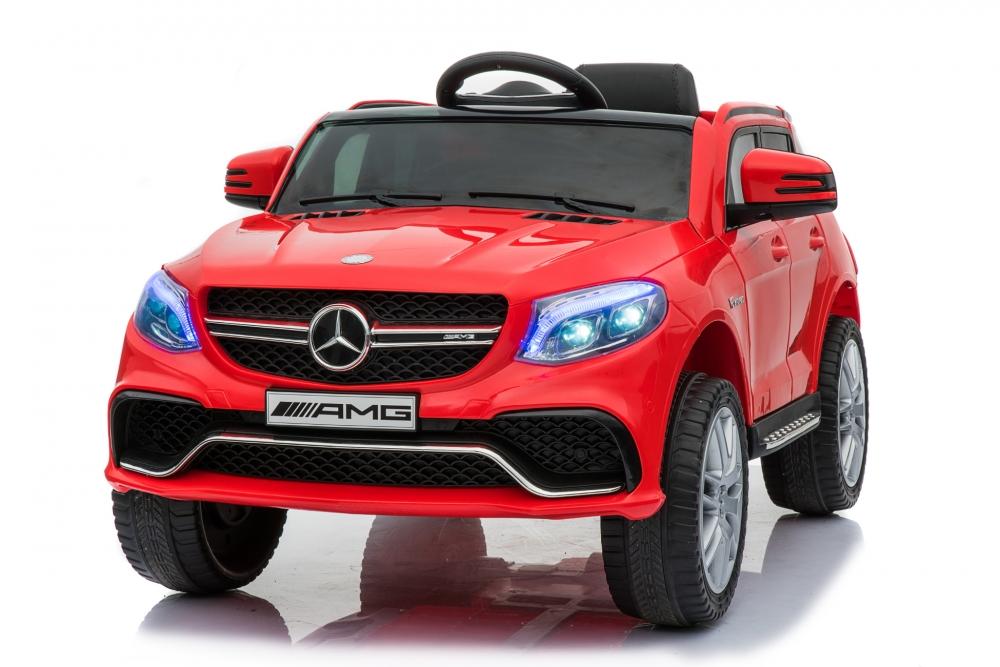 Masinuta electrica cu roti din cauciuc si scaun de piele Mercedes GLE63 AMG Red