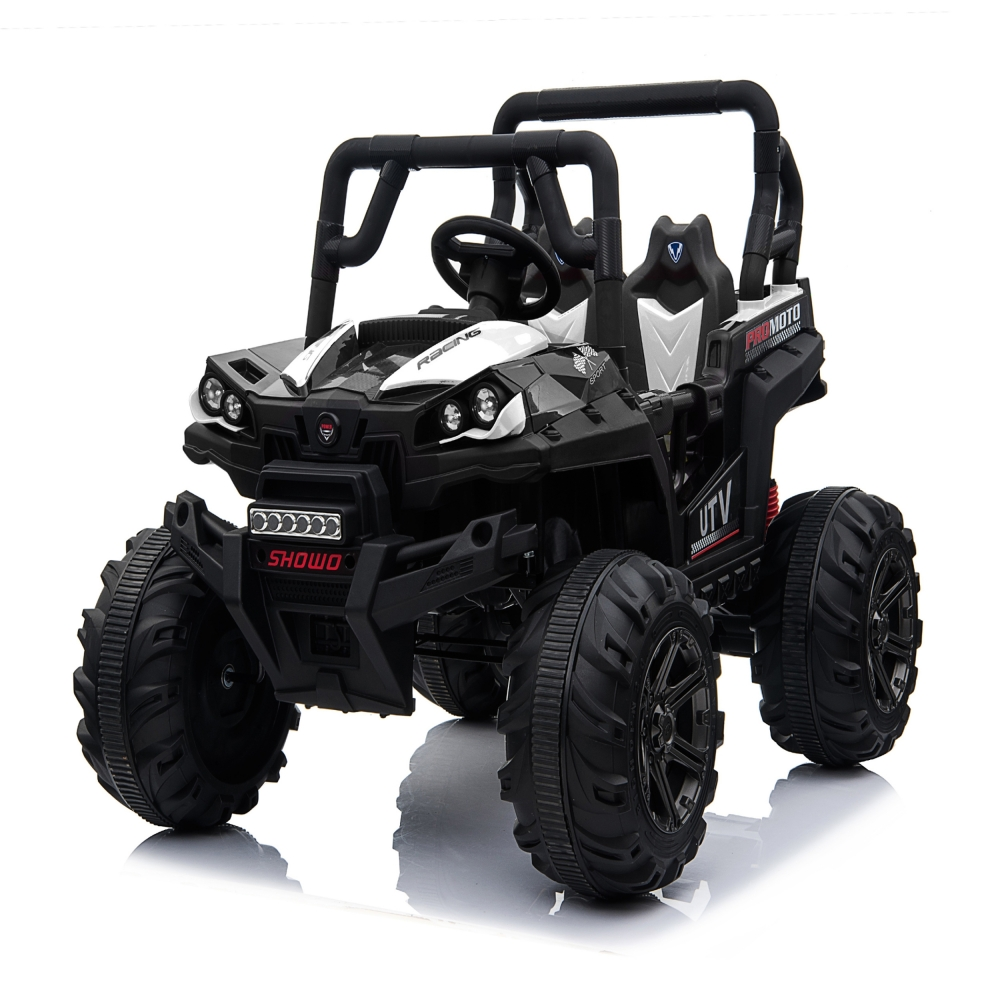 Masinuta electrica de teren 12V Nichiduta Jeep UTV Racing WhiteBlack