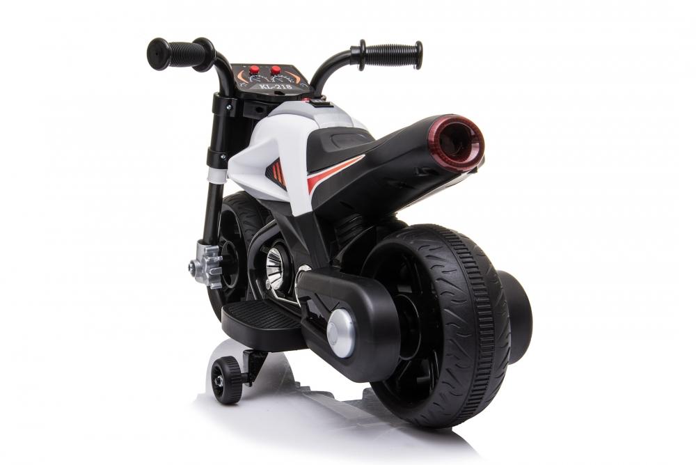 Motocicleta electrica Nichiduta 6V cu roti ajutatoare si lumini LED White