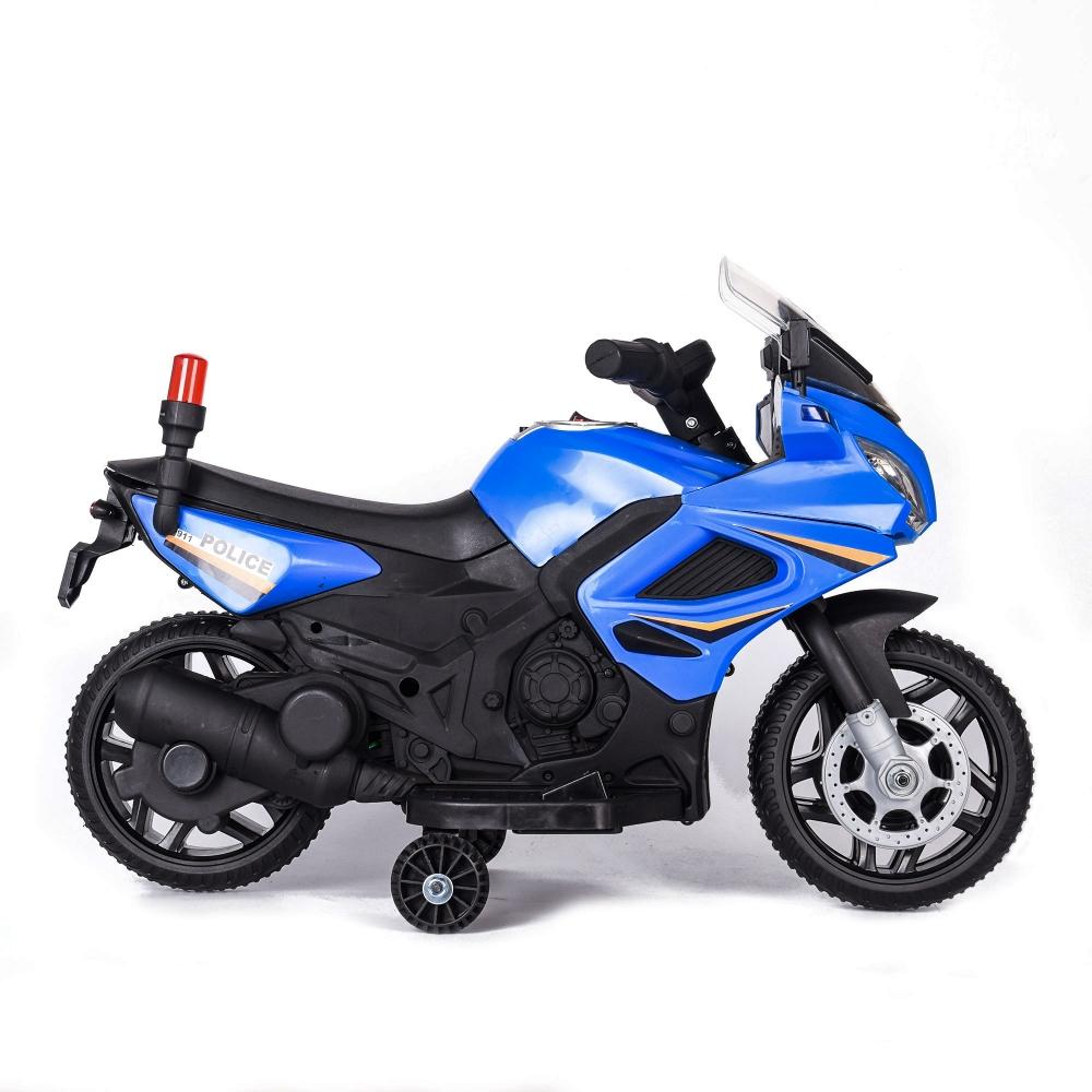Motocicleta electrica cu scaun din piele Nichiduta Police 911 Blue