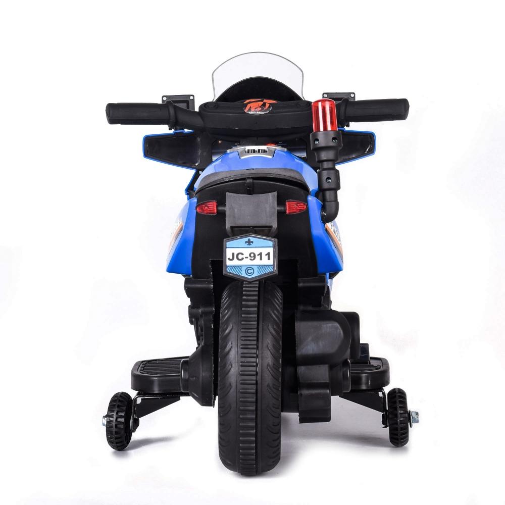 Motocicleta electrica cu scaun de piele Police 911 Blue