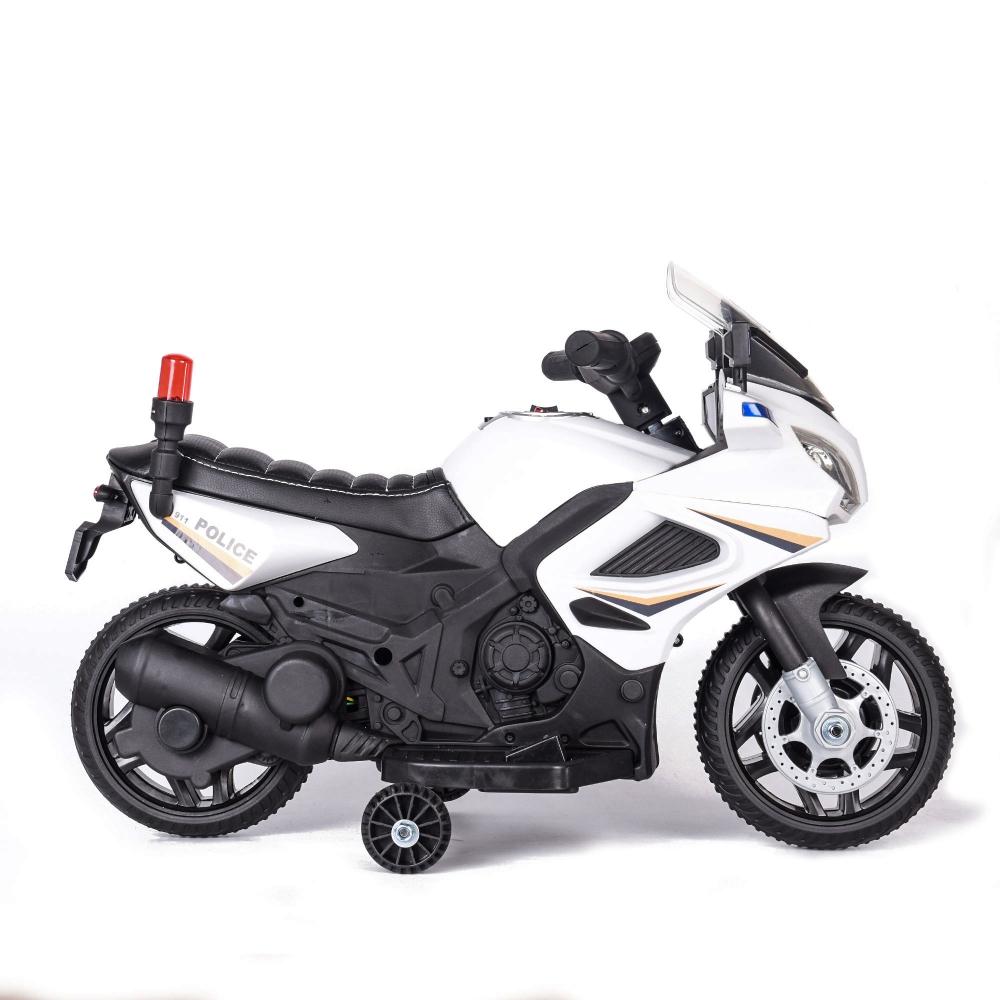 Motocicleta electrica cu scaun de piele Police 911 White