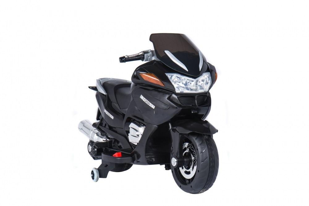Motocicleta electrica cu scaun de piele si roti EVA Nichiduta Speed Black - 4