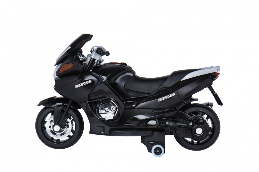 Motocicleta electrica cu scaun de piele si roti EVA Nichiduta Speed Black - 2