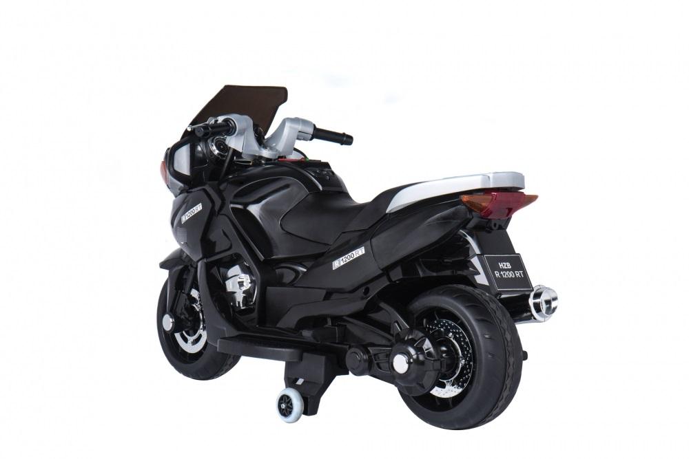 Motocicleta electrica cu scaun de piele si roti EVA Nichiduta Speed Black - 3