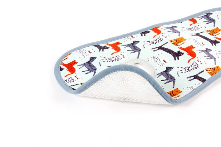 Protectie antitranspiratie pentru carucior bumbac organic Pisici