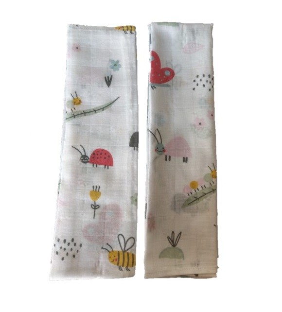 Set 2 museline din bumbac 70x50cm Cute insects Sevi