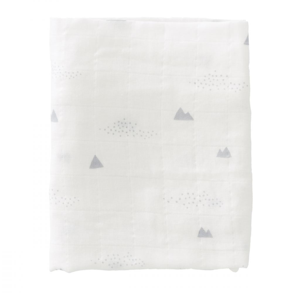 Set 2 paturici muselina de infasat din bumbac organic Polar bear 70x60 cm