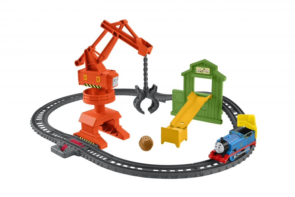 Set sina cu locomotiva motorizata si vagon Thomas and Friends Cassia Crane and Cargo