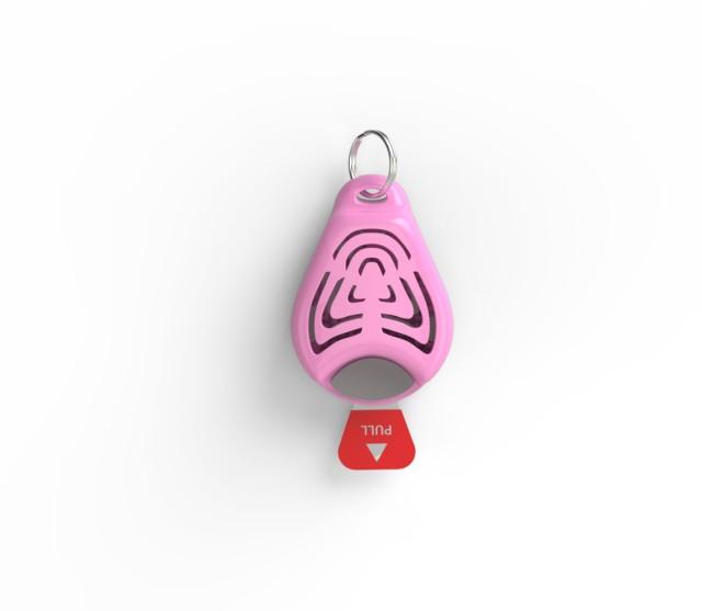 Repelent ultrasonic anticapuse pentru copii culoare roz imagine