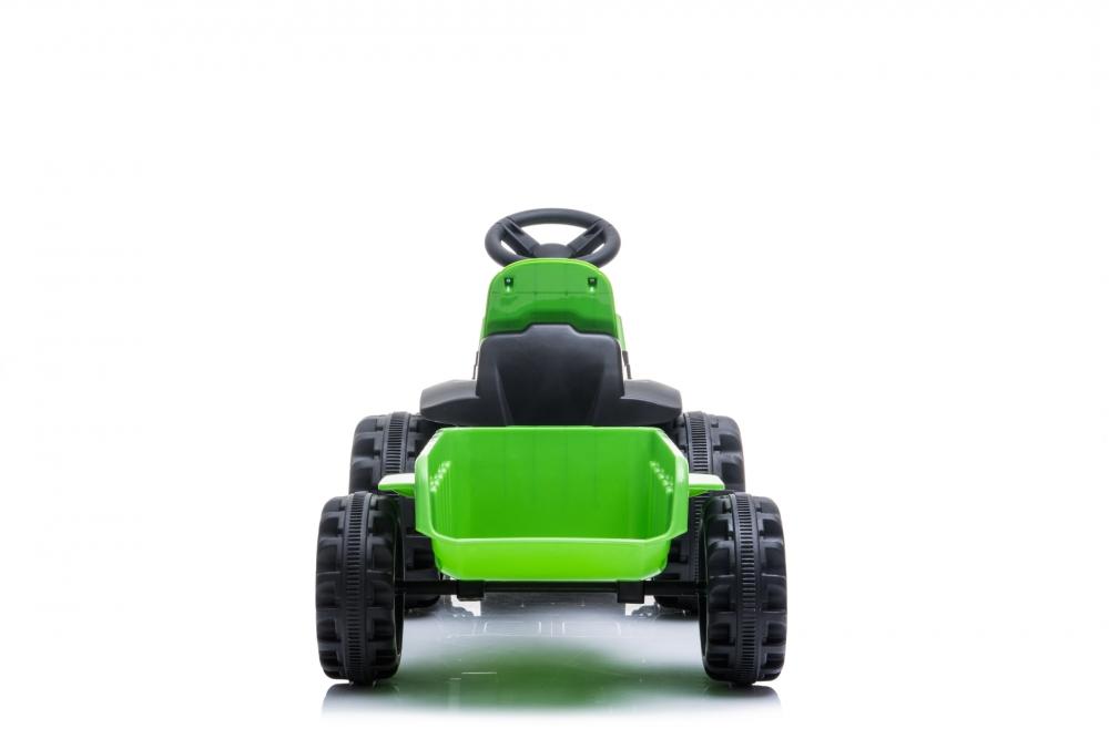 Tractor electric Nichiduta XXL 6V cu remorca Green