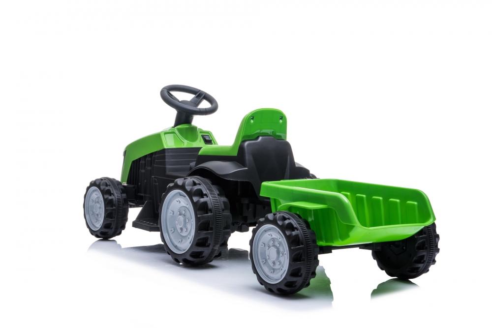 Tractor electric Nichiduta XXL 6V cu remorca Green - 1