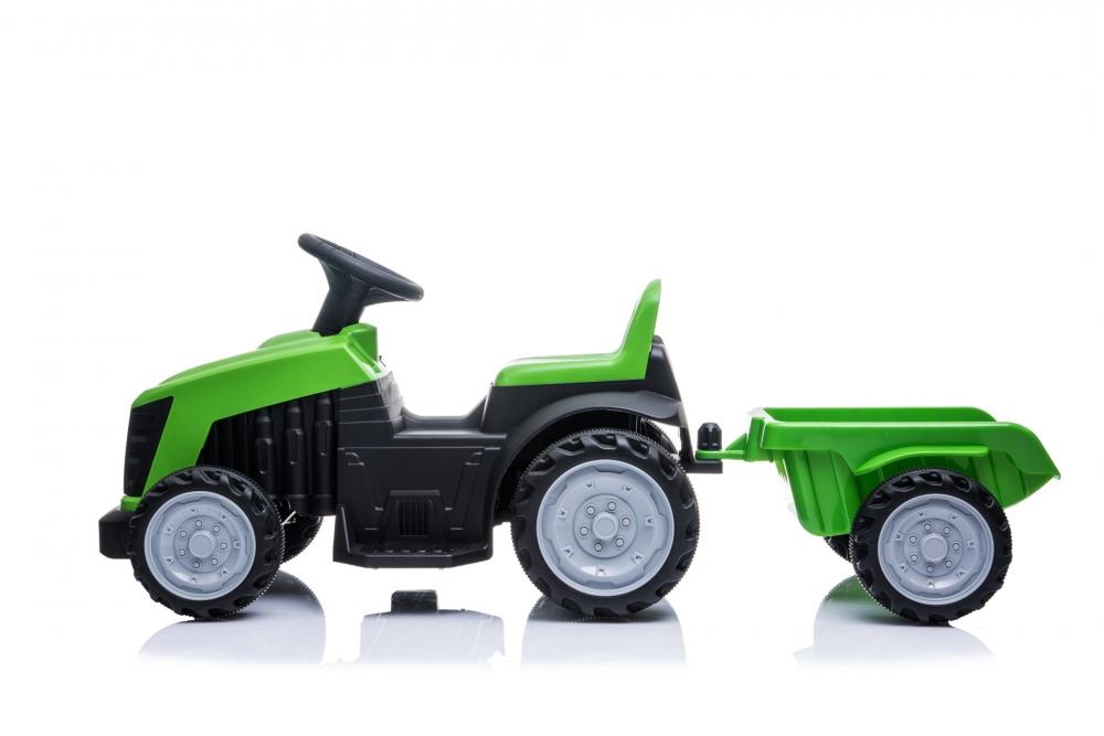 Tractor electric Nichiduta XXL 6V cu remorca Green - 2