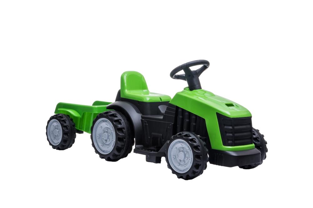 Tractor electric Nichiduta XXL 6V cu remorca Green - 3