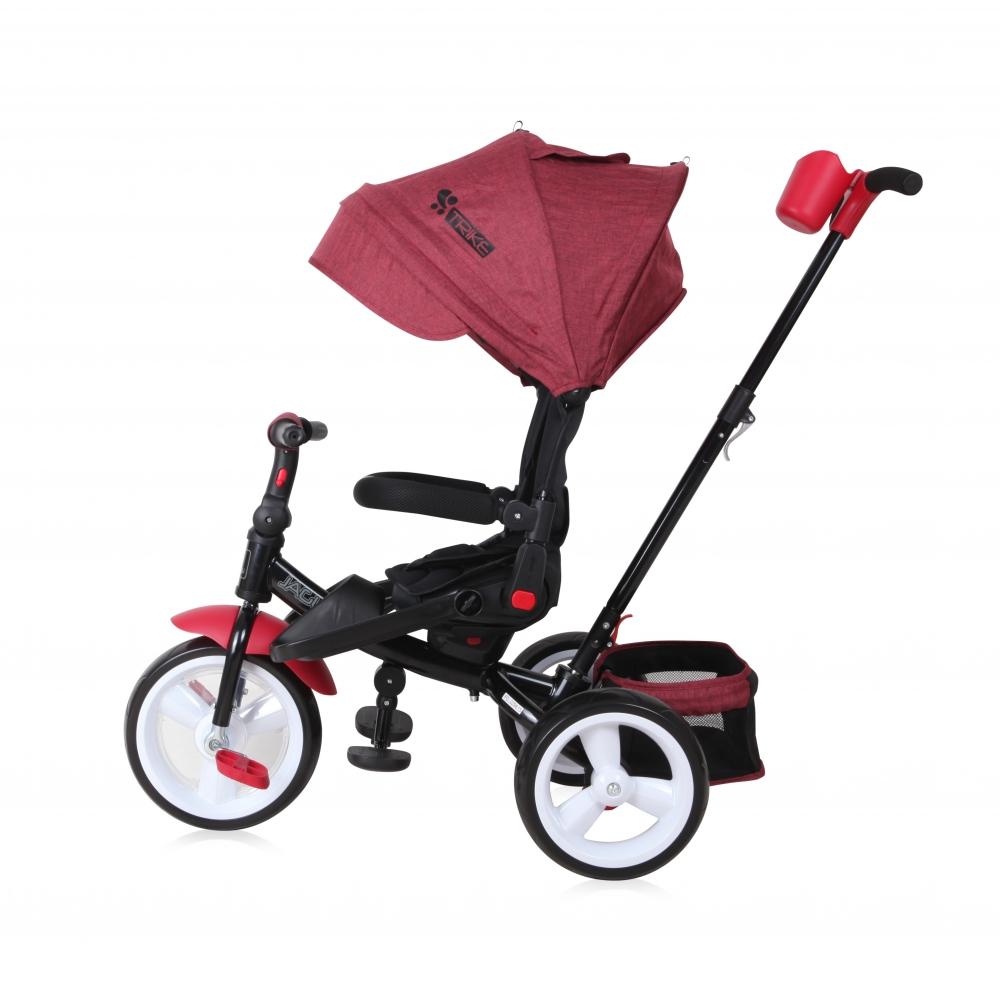 Tricicleta 4 in 1 Jaguar Eva Wheels Red Black Luxe
