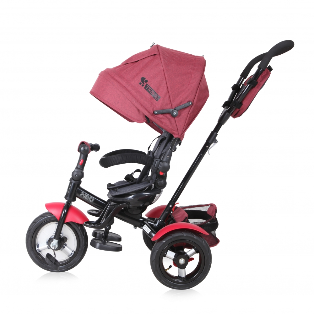 Tricicleta 4 in 1 Neo Air Wheels Red Black Luxe imagine
