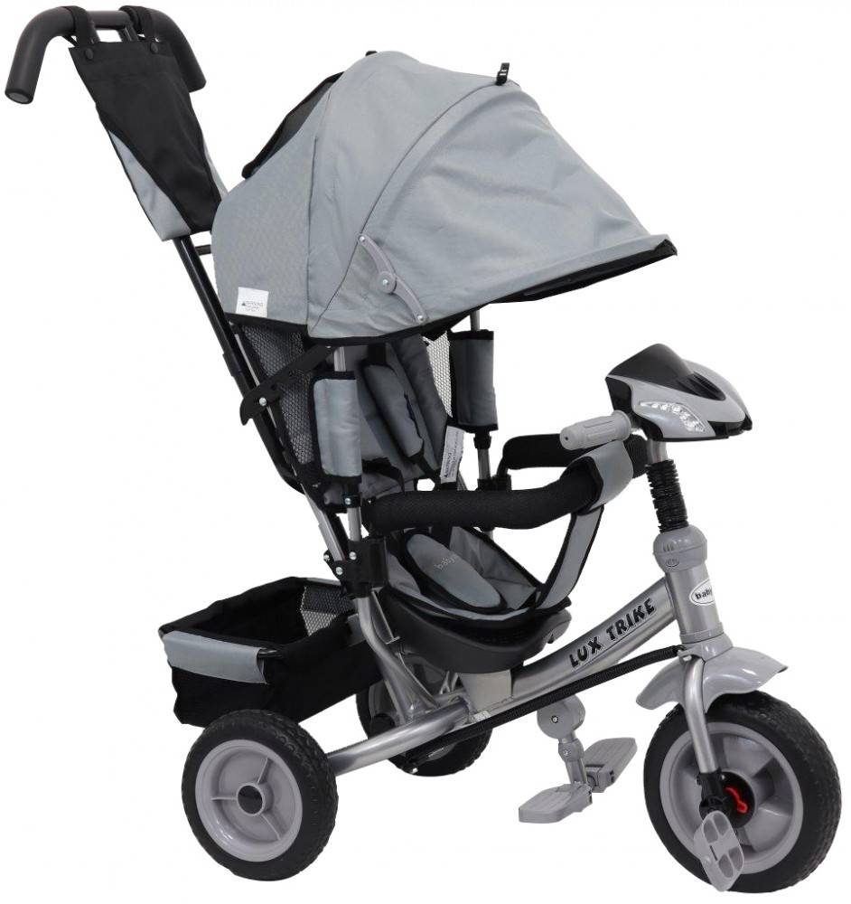 Tricicleta multifunctionala cu sunete si lumini Lux Trike grey