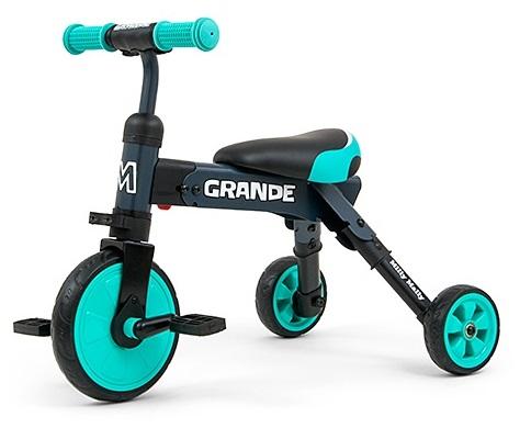 Tricicleta pliabila transformabila in bicicleta fara pedale Grande Mint