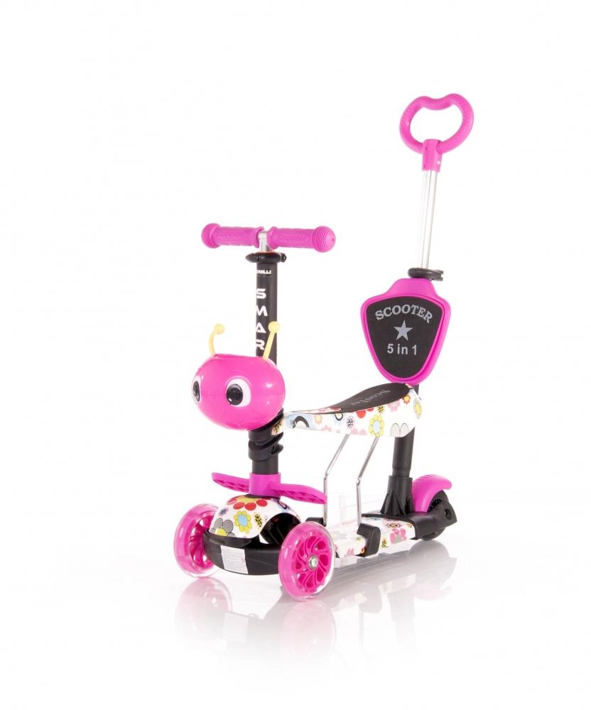 LORELLI Trotineta pentru copii Smart Plus Pink Flowers