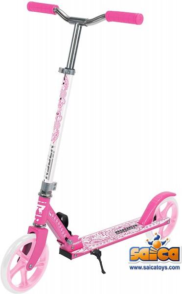 Saica Trotineta pentru copii cu 2 roti Saica 200 mm roz cu alb