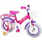 Bicicleta Volare Minnie Mouse 12 inch cu portbagaj