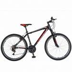 Bicicleta Mtb-Ht 26 Velors Double V2671A cadru aluminiu negru/rosu
