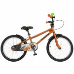 Bicicleta copii 20 Velors V2001A cadru otel portocaliu negru