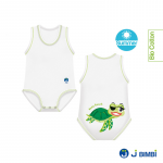 Body din bumbac organic de vara pentru copii 0-36 luni Broasca Testoasa